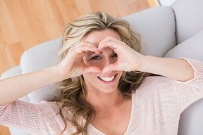 Love heart lady sm