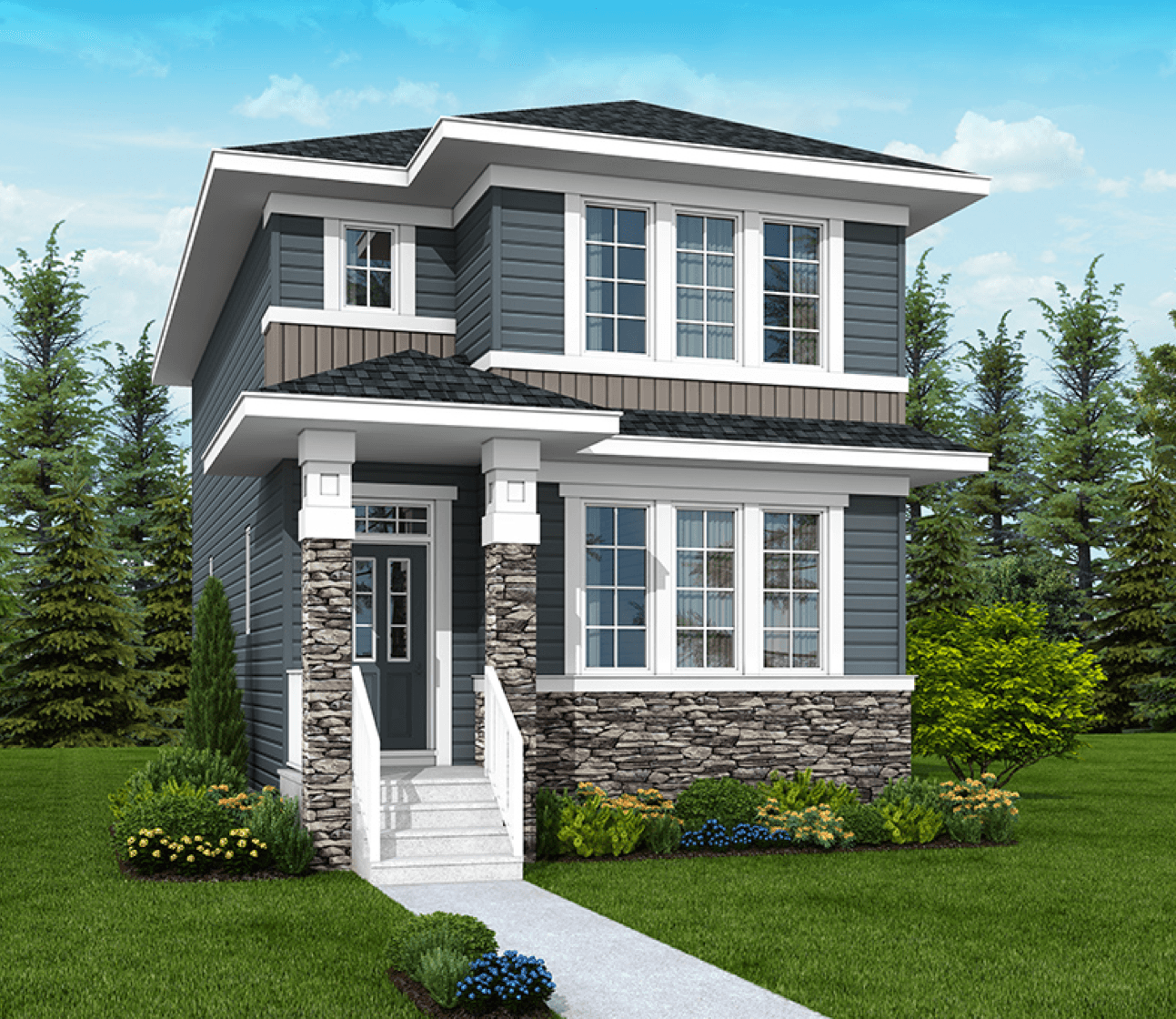 Brand New Show Home Opening in Cochrane! Leyton Foursquare model image