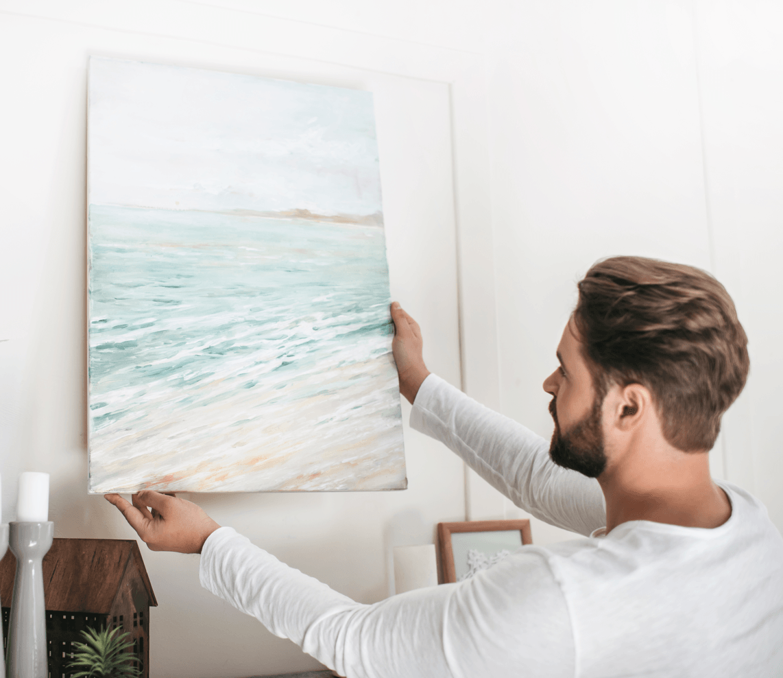 16 Interior Design Tricks That Will Improve Any Room hanging Art image