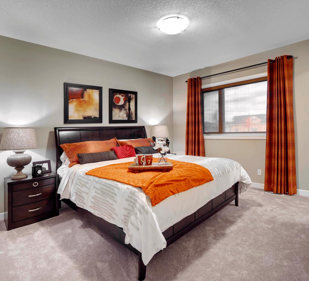 Room by Room Colour Scheme Trends Orange Bedroom Image