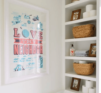 Tips for Keeping an Organized Bathroom Poster Image