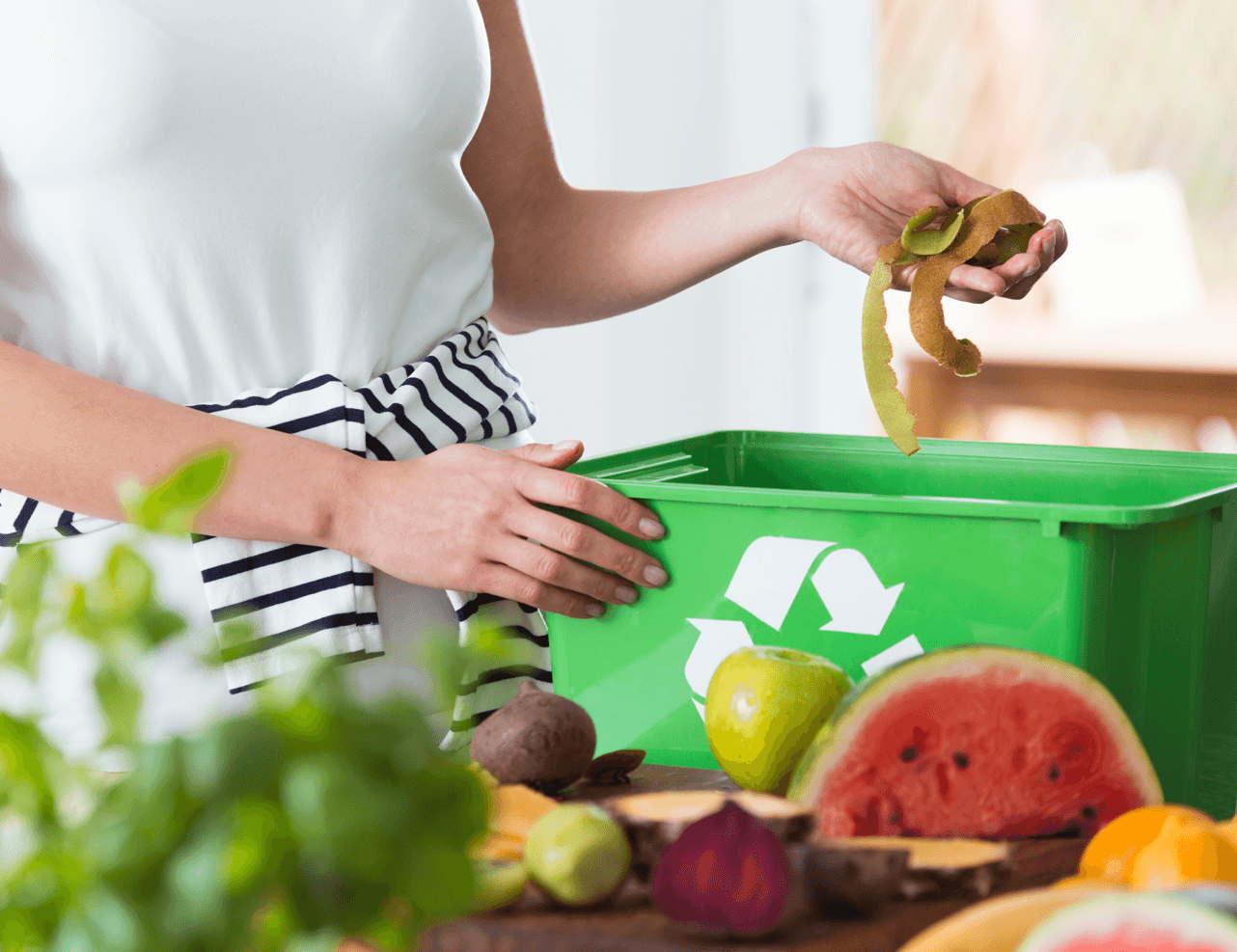 Ins and Outs of Composting Woman Image