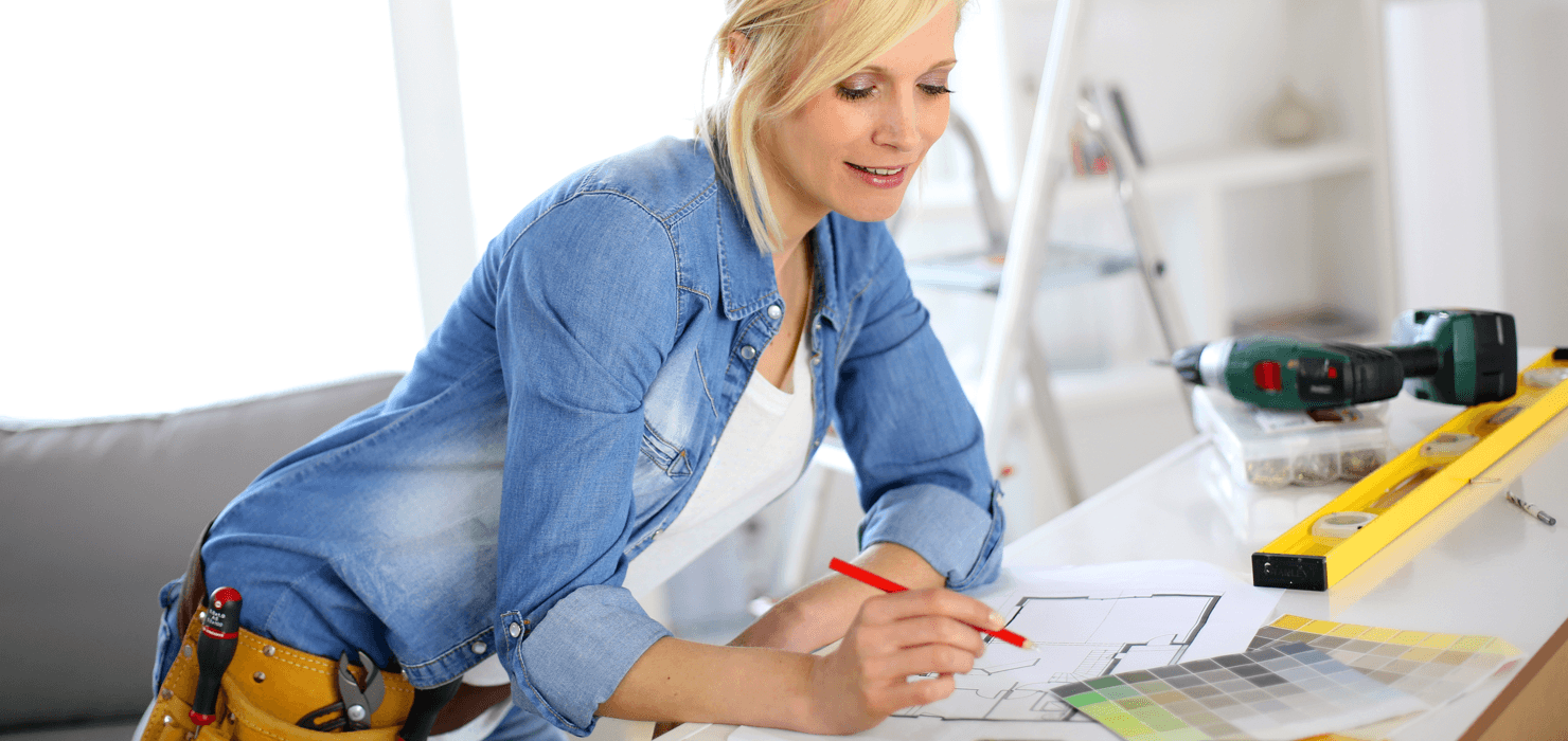 Smart Ways to Spend Your Tax Return on Your Home Woman featured Image