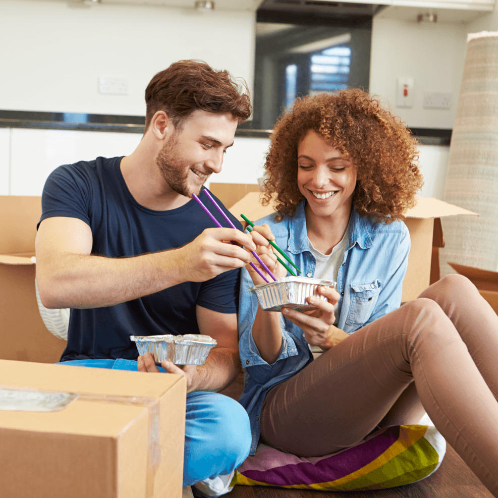 Couple Moving Into New Home Image