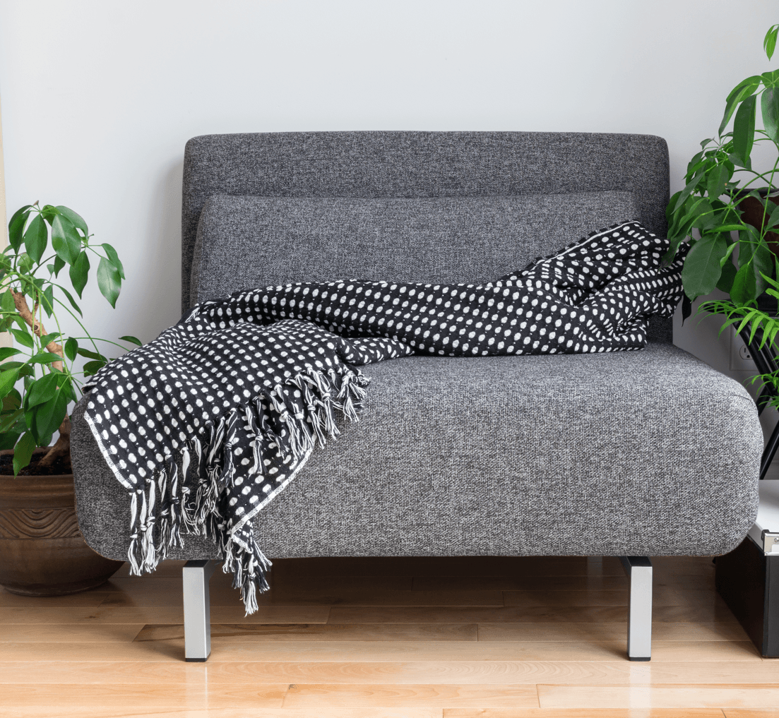 10 Ways to Make Your Home Feel Friendly Grey Throw Blanket Image