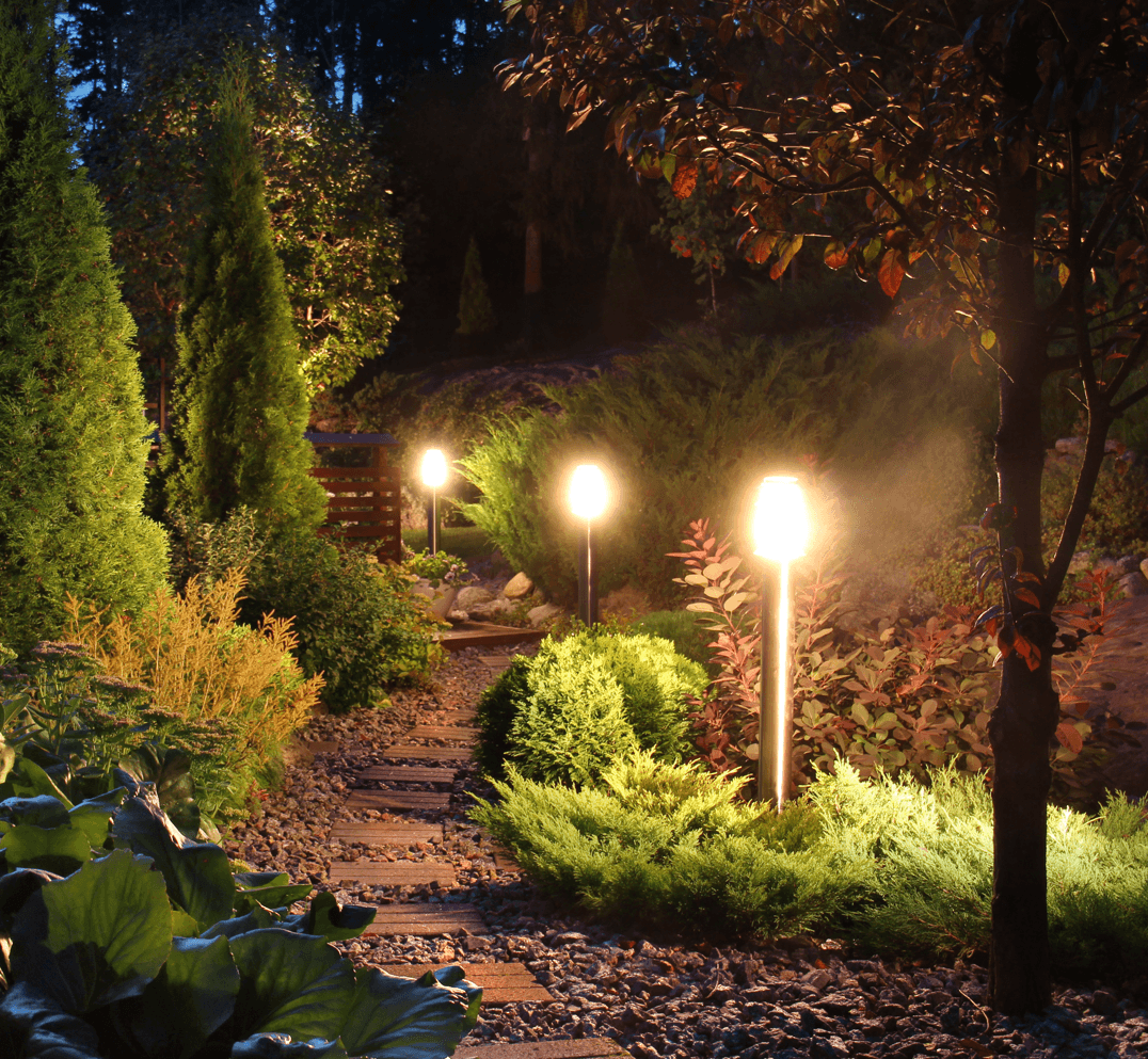 6 Ways to Boost Your Curb Appeal and Property Value Illuminated Garden Path Image