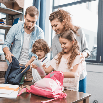 The Home Feature You Need to Keep Your Family Organized First Day of School Image