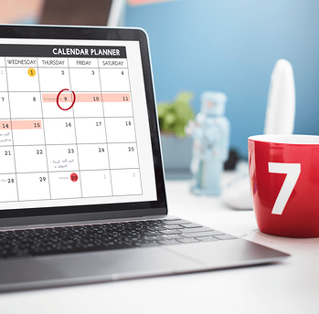 The Home Feature You Need to Keep Your Family Organized Laptop Red Mug Image