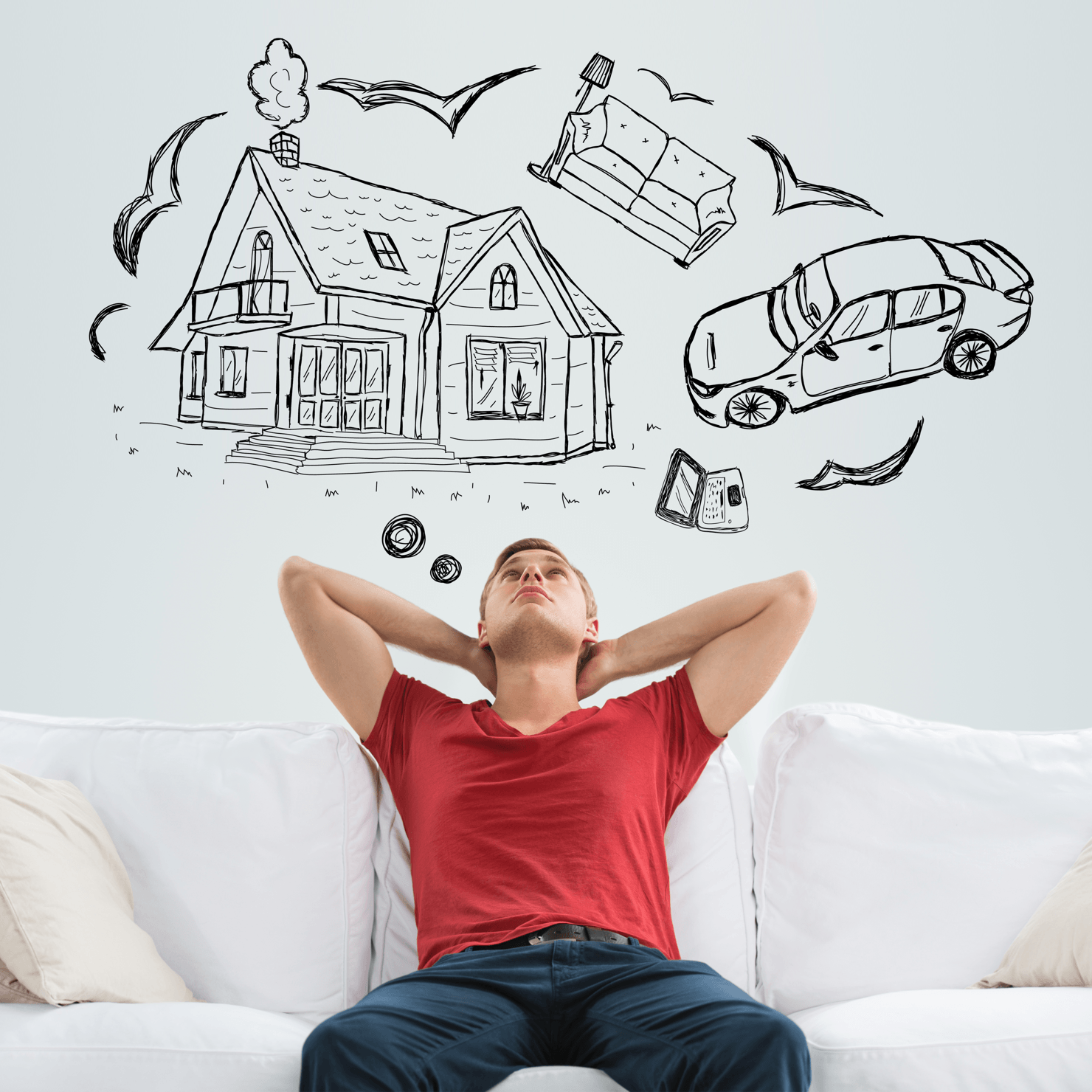 What is Really Needed for a Down Payment? Man Dreaming Image