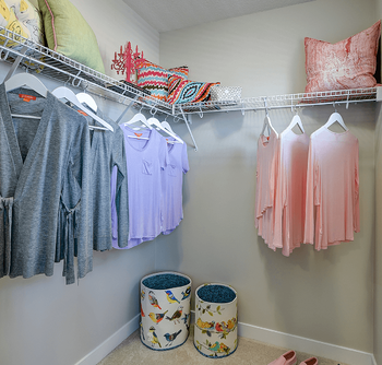 Making the Most of the Space in Your Walk-In Closet Hangers Image