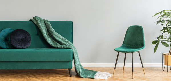 8 Spring Home Decor Trends for 2019 Green Sofa Image